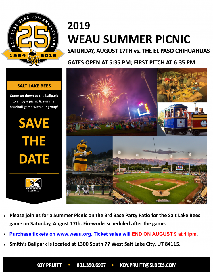 2019 WEAU Summer Picnic & Bees Game