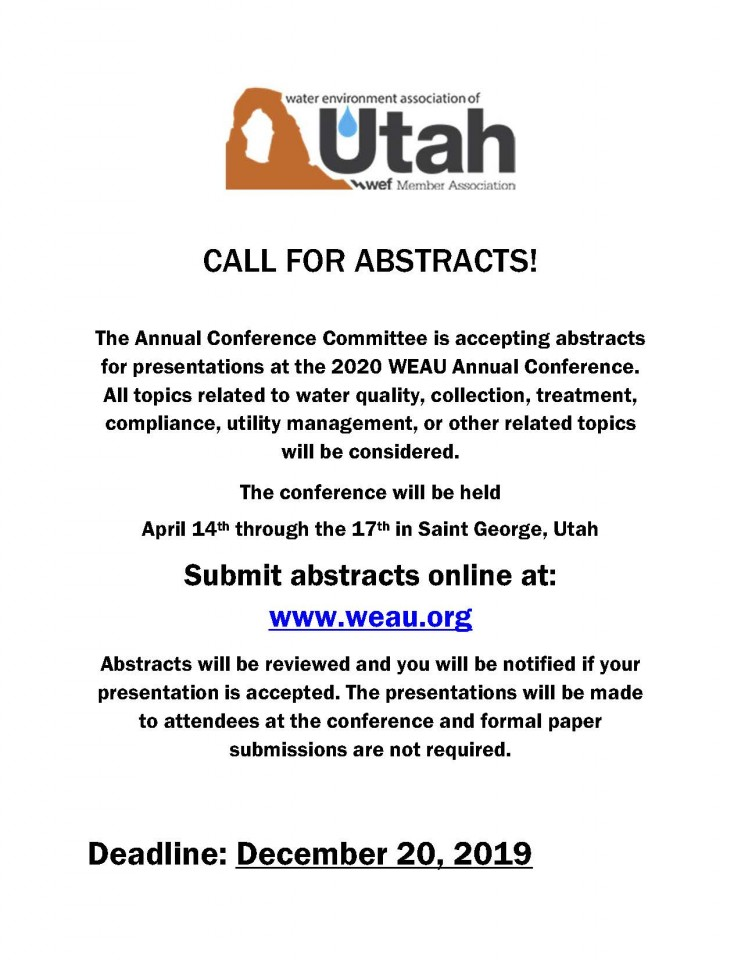 Call for Abstacts 2020 Annual Conference